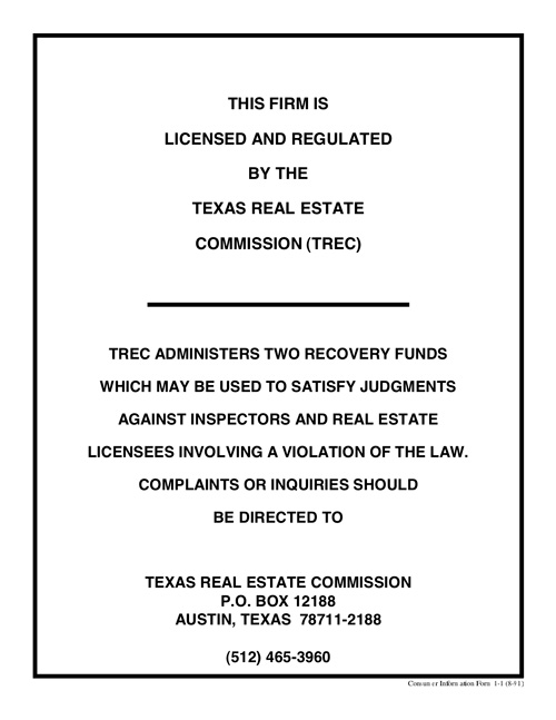Consumer Information  Barham Properties Inc  Nacogdoches Tx